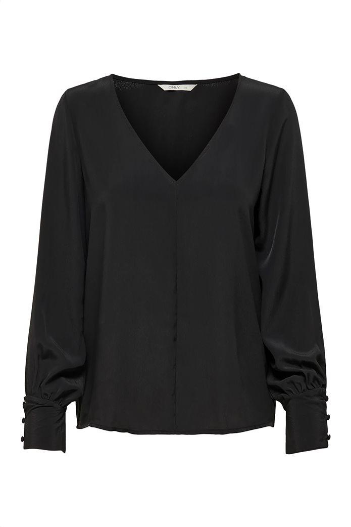 ONLY γυναικεία μακρυμάνικη μπλούζα με λαιμόκοψη V 3