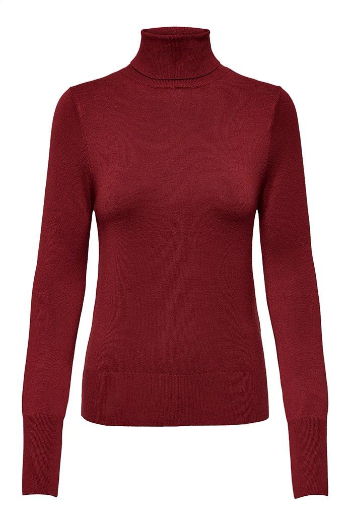ONLY γυναικεία πλεκτή μπλούζα μονόχρωμη ζιβάγκο 3