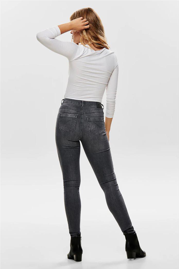 ONLY γυναικεία μπλούζα με στρογγυλή λαιμόκοψη και κουμπιά 2