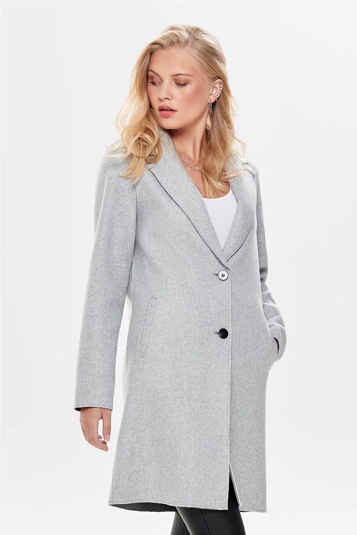 ONLY γυναικείο παλτό με δύο κουμπιά 0