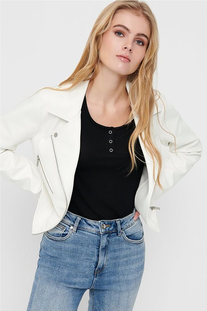 ONLY γυναικείο faux leather jacket 0