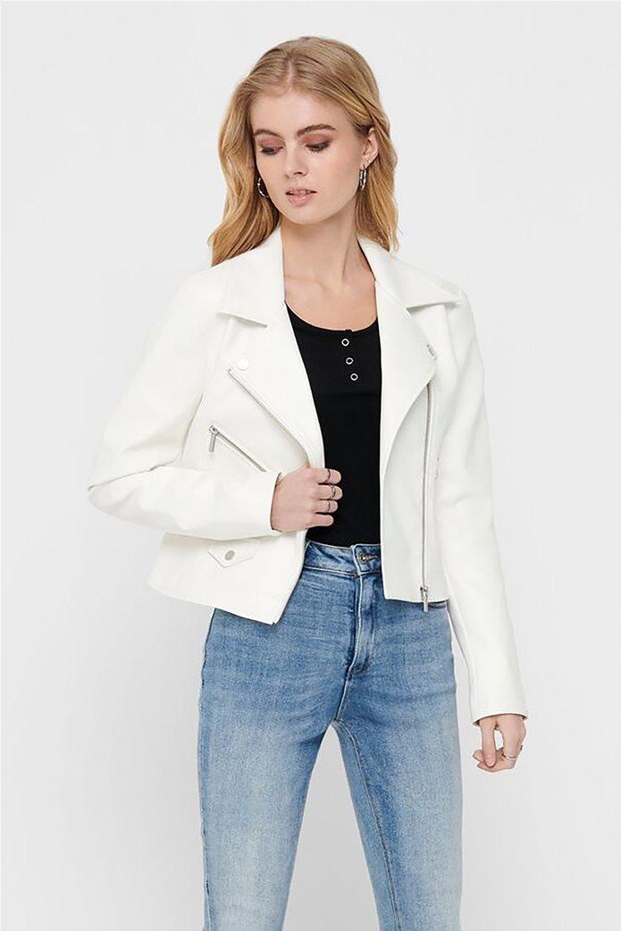 ONLY γυναικείο faux leather jacket 1