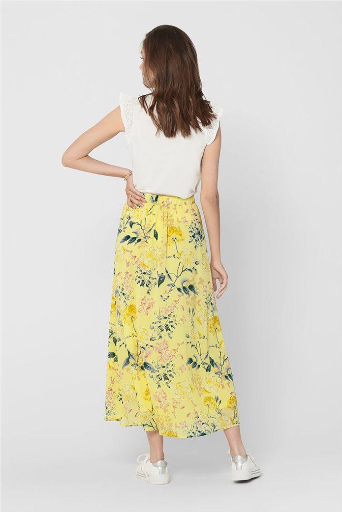 ONLY γυναικεία midi φούστα με floral print Κίτρινο 2