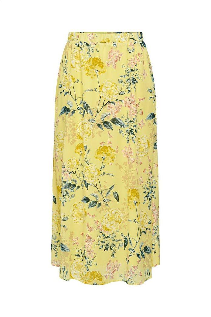 ONLY γυναικεία midi φούστα με floral print Κίτρινο 3
