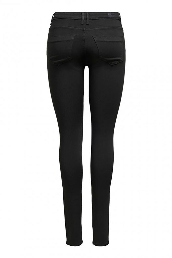 ONLY γυναικείο τζην παντελόνι πεντάτσεπο Slim Fit Μαύρο 1
