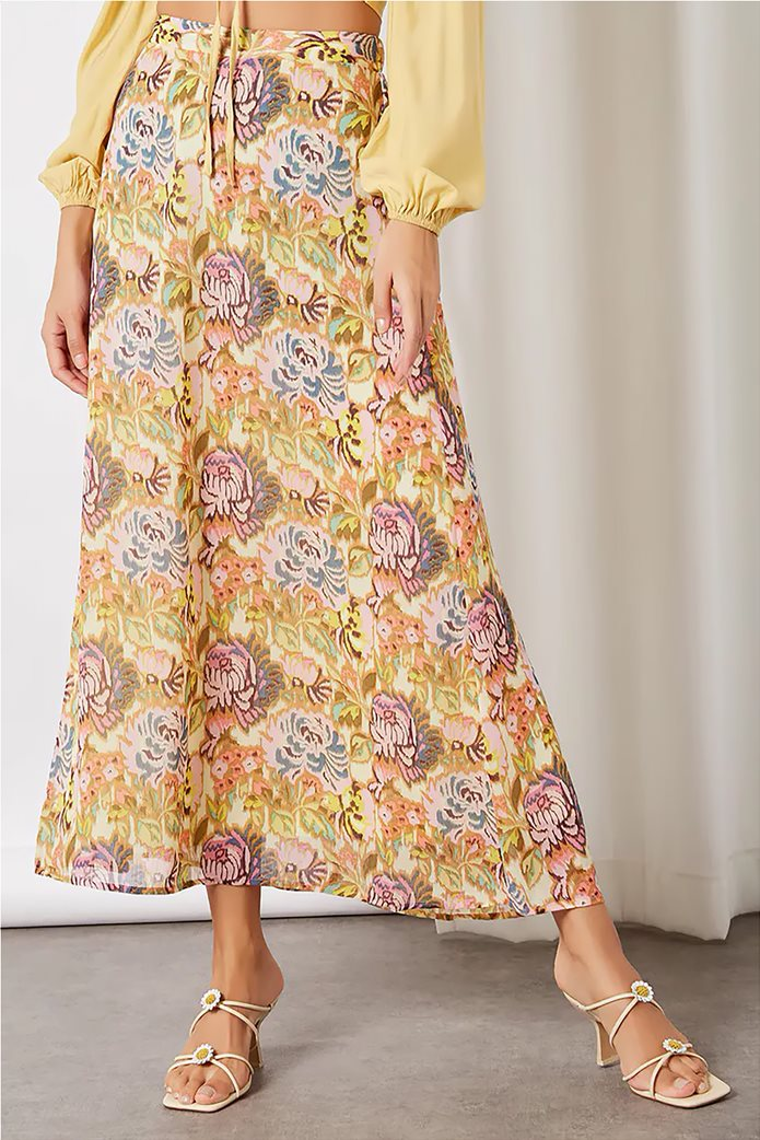 ONLY γυναικεία maxi φούστα με all-over floral print Σομον 2