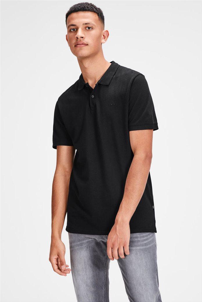 9576e6a86235 JACK   JONES ανδρική μπλούζα polo μονόχρωμη 0