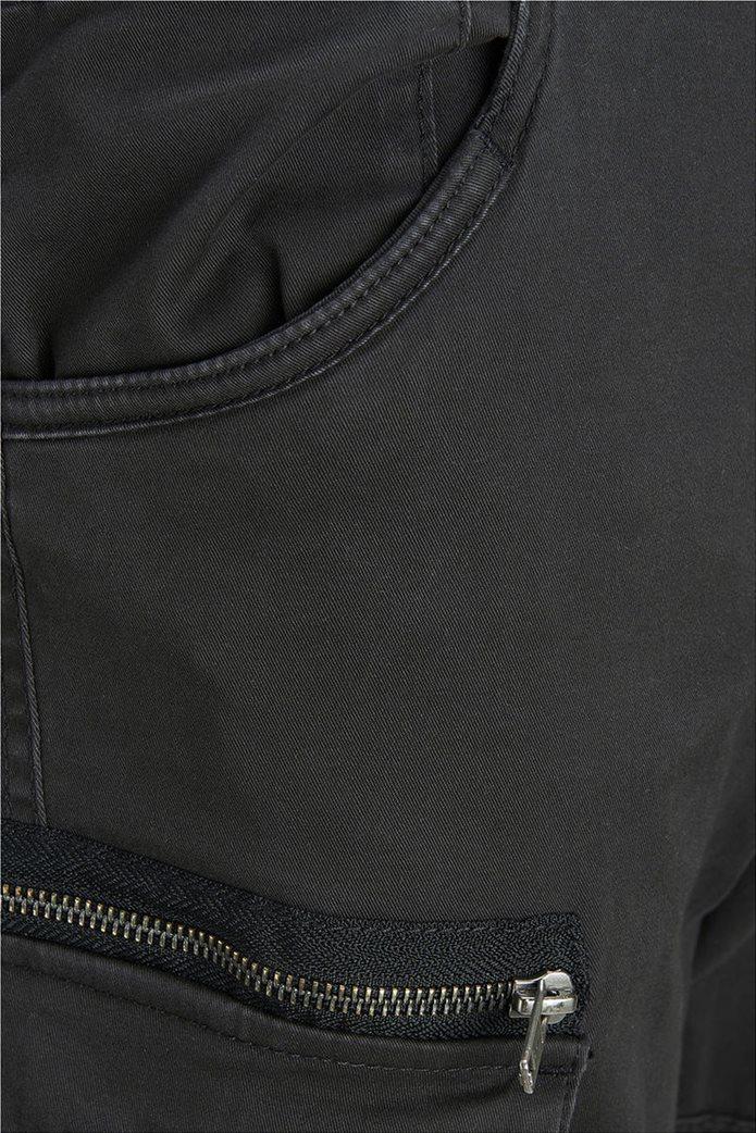 JACK & JONES ανδρικό μαύρο παντελόνι cargo Drake chop akm 574 4