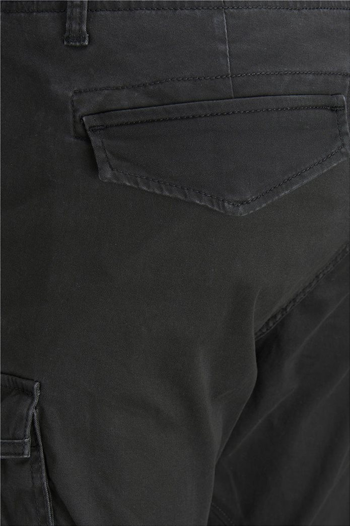 JACK & JONES ανδρικό μαύρο παντελόνι cargo Drake chop akm 574 5