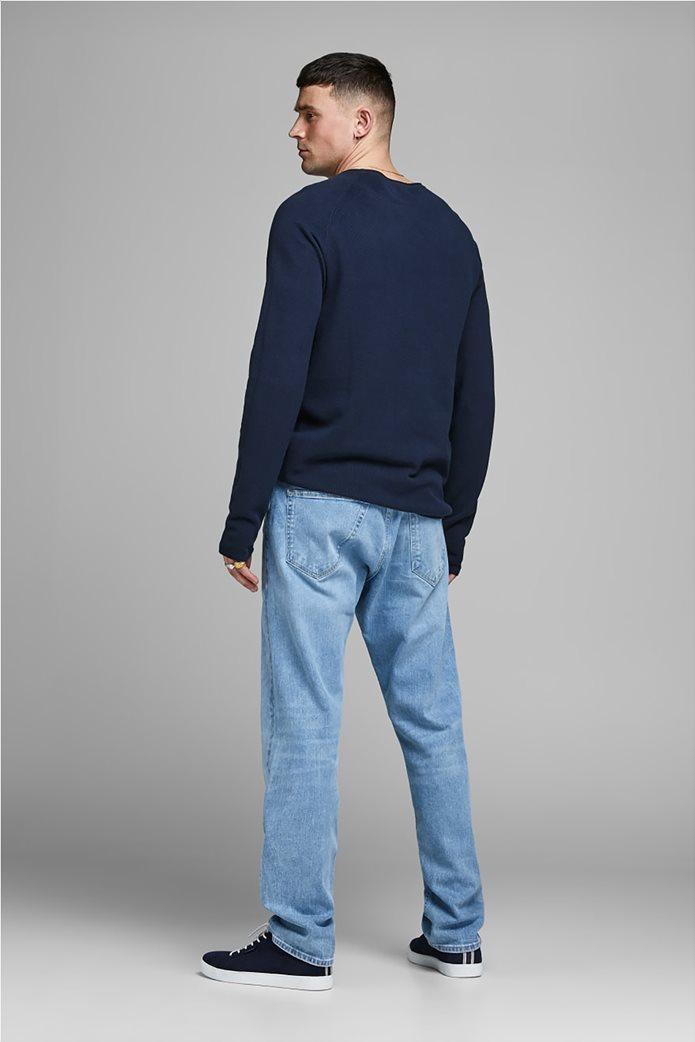 JACK & JONES ανδρική πλεκτή μπλούζα μονόχρωμη 1
