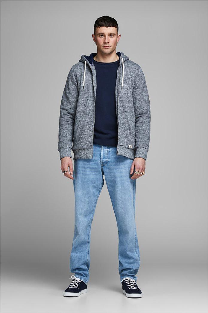 JACK & JONES ανδρική πλεκτή μπλούζα μονόχρωμη 2