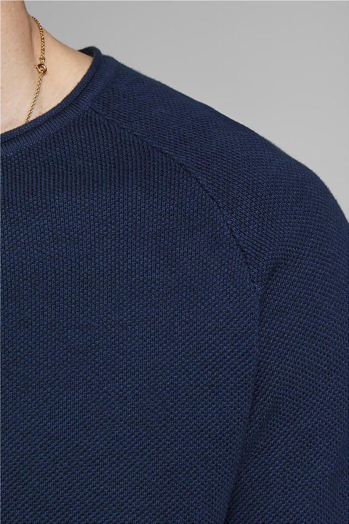 JACK & JONES ανδρική πλεκτή μπλούζα μονόχρωμη 3