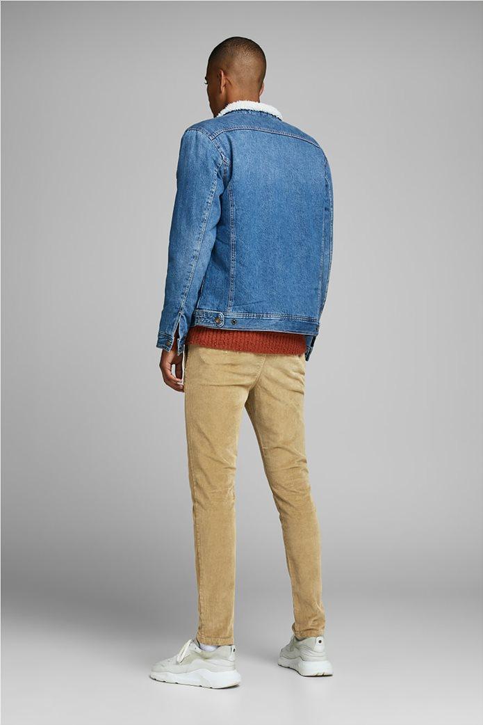 JACK & JONES ανδρικό παντελόνι chino κοτλέ 3