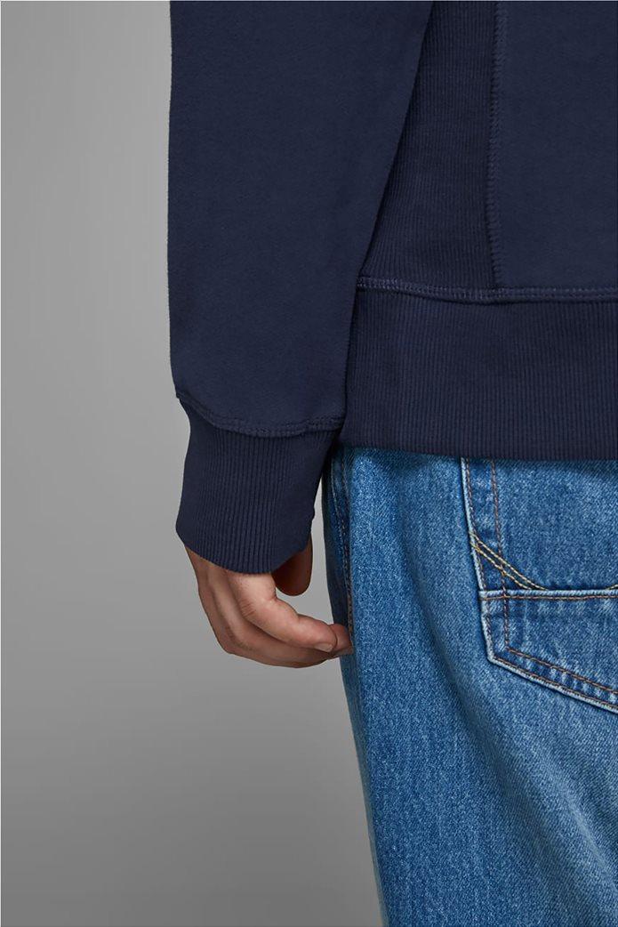 JACK & JONES ανδρικό φούτερ με κουκούλα και logo letter print 4