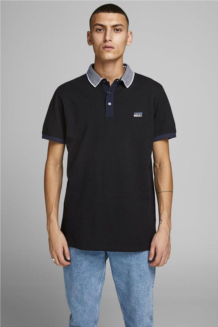 JACK & JONES ανδρική πικέ πόλο μπλούζα 0