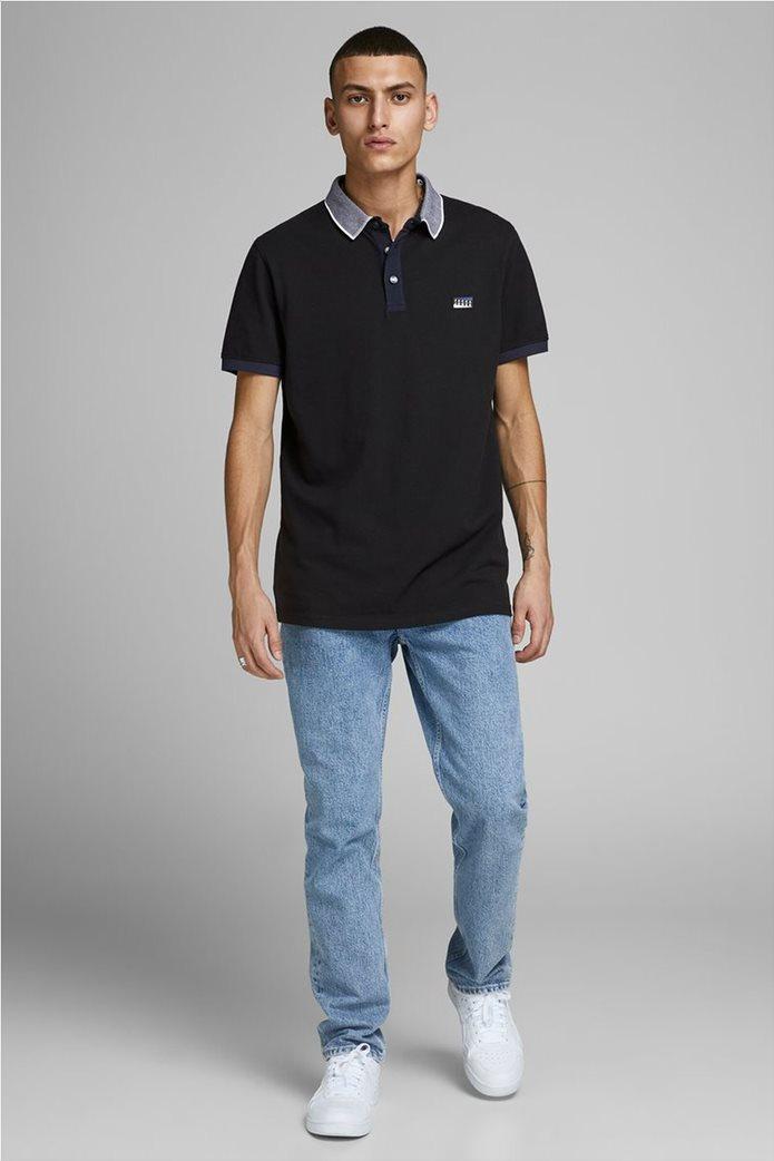 JACK & JONES ανδρική πικέ πόλο μπλούζα 1
