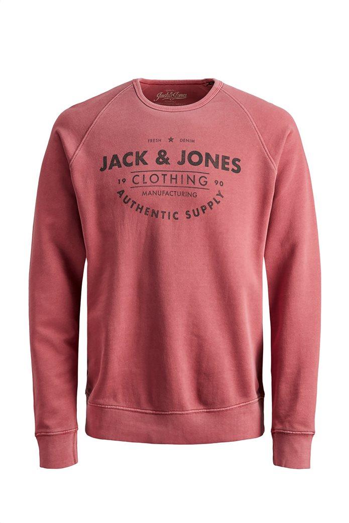JACK & JONES ανδρική μπλούζα με logo print 0