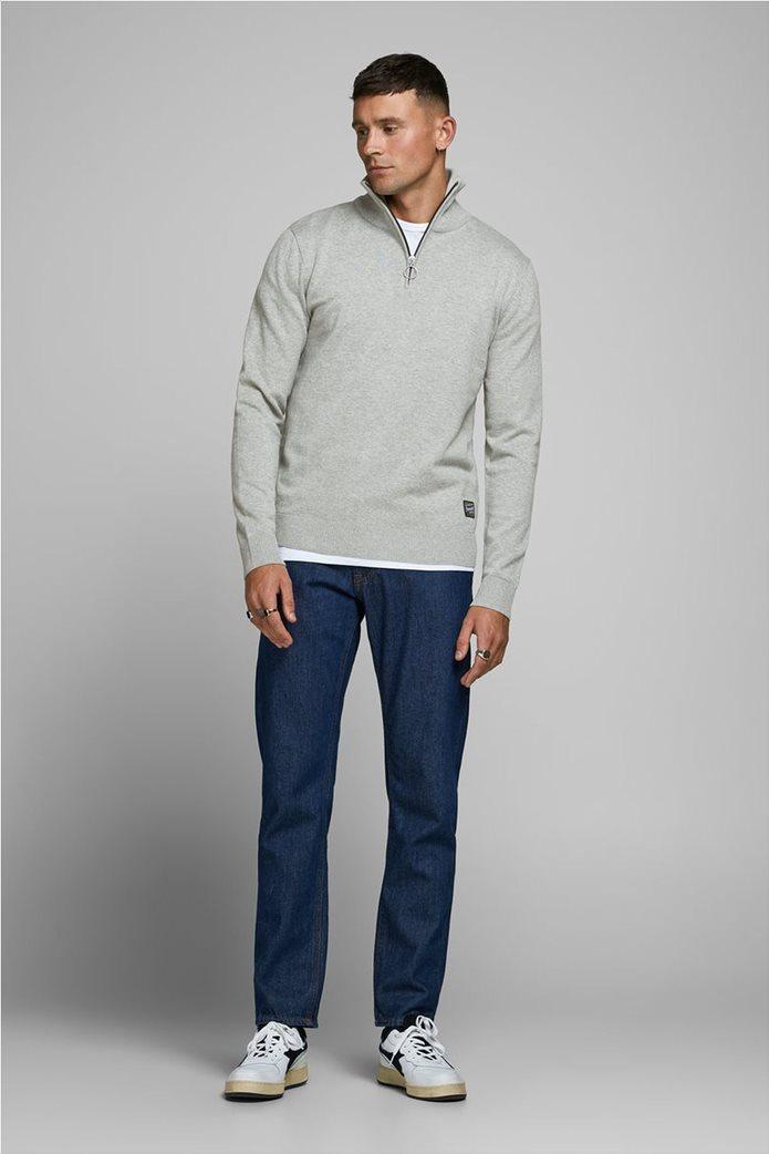 JACK & JONES ανδρική πλεκτή μπλούζα με φερμουάρ 1/2 1