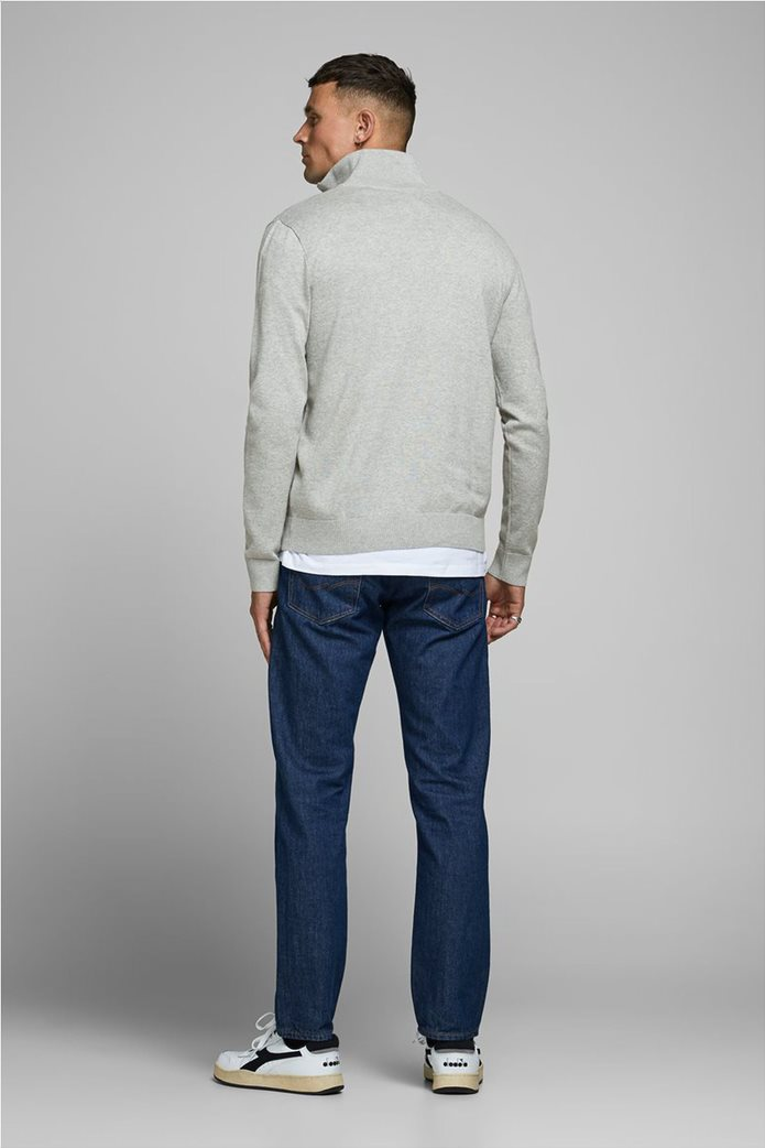 JACK & JONES ανδρική πλεκτή μπλούζα με φερμουάρ 1/2 2