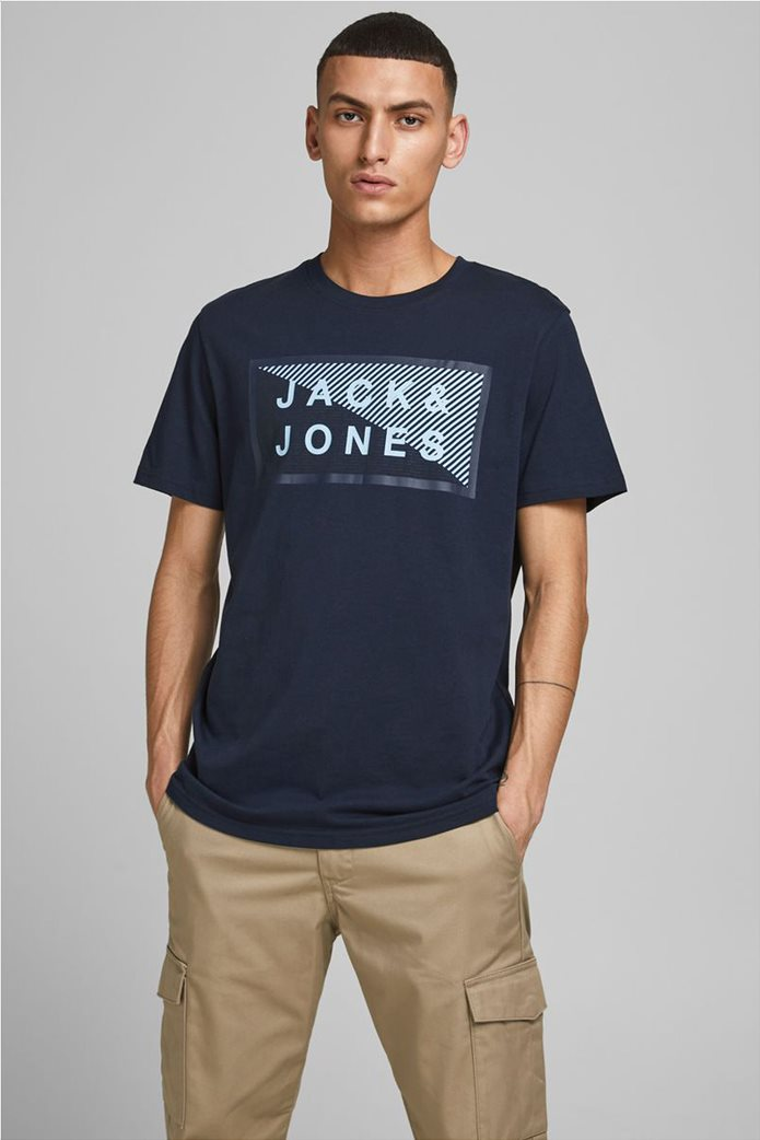 JACK & JONES ανδρικό Τ-Shirt με logo print 1