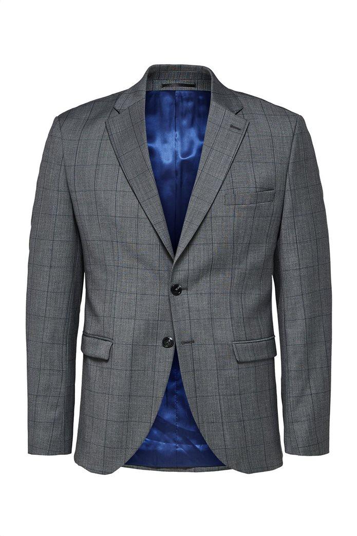 Selected ανδρικό σακάκι καρό Slim Fit 0