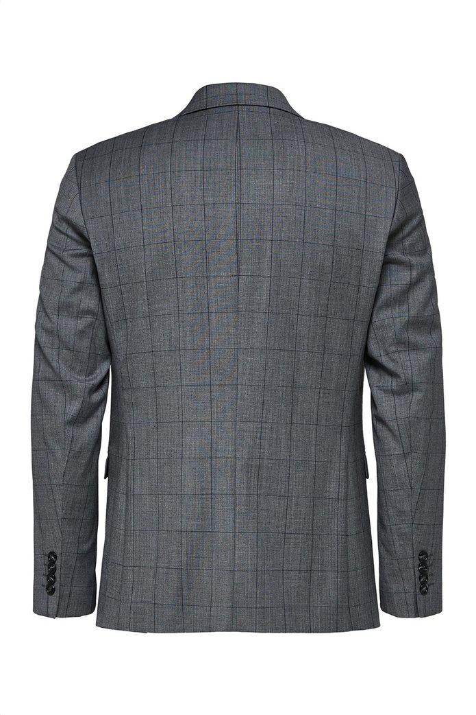 Selected ανδρικό σακάκι καρό Slim Fit 1