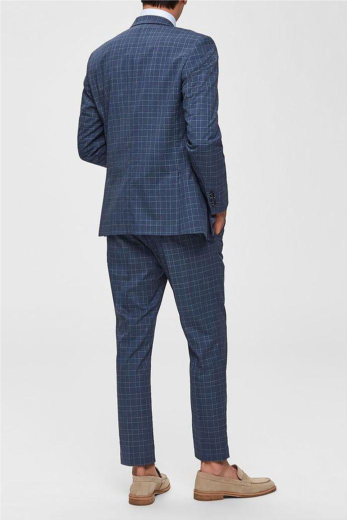 Selected ανδρικό σακάκι καρό με flap τσέπες Slim Fit 1
