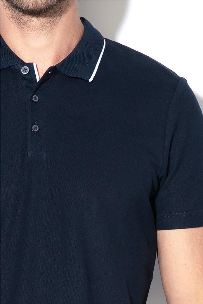Selected ανδρική πόλο μπλούζα με ρίγα στο γιακά 1