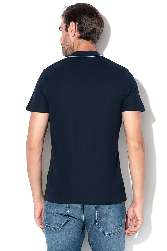 Selected ανδρική πόλο μπλούζα με ρίγα στο γιακά 2