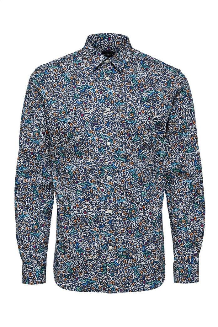 Selected ανδρικό πουκάμισο με all-over print 4
