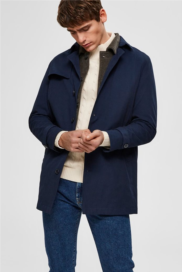 Selected ανδρικό παλτό μονόχρωμο 0