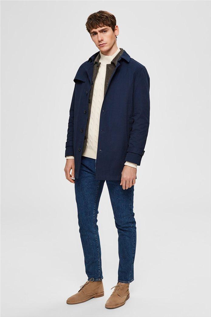 Selected ανδρικό παλτό μονόχρωμο 1