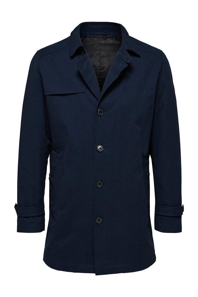 Selected ανδρικό παλτό μονόχρωμο 3