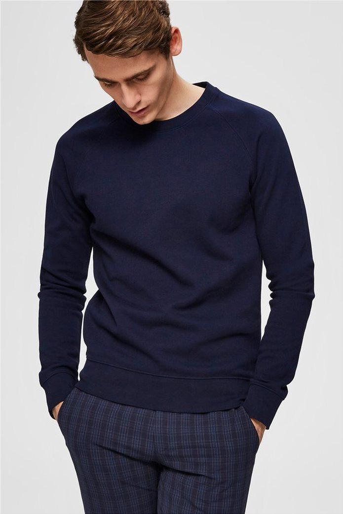 Selected ανδρική πλεκτή μπλούζα  μονόχρωμη 0