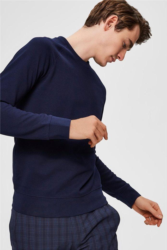 Selected ανδρική πλεκτή μπλούζα  μονόχρωμη 1