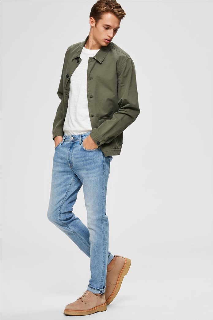 "Selected ανδρικό πεντάτσεπο τζην παντελόνι Slim fit ""3020"" 2"