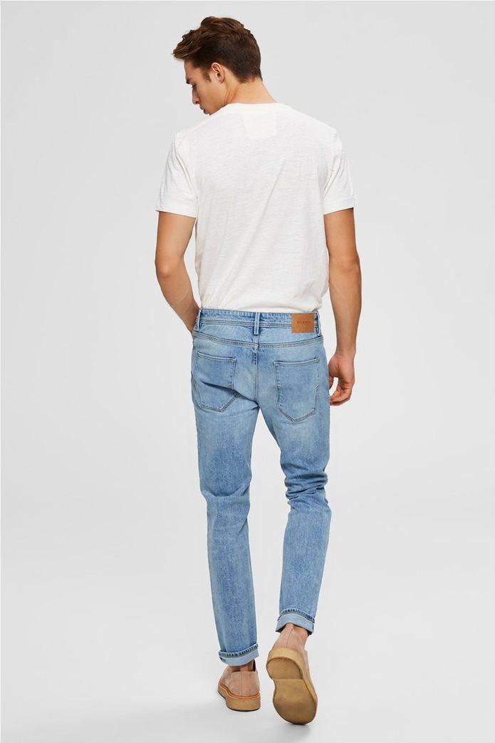 "Selected ανδρικό πεντάτσεπο τζην παντελόνι Slim fit ""3020"" 3"
