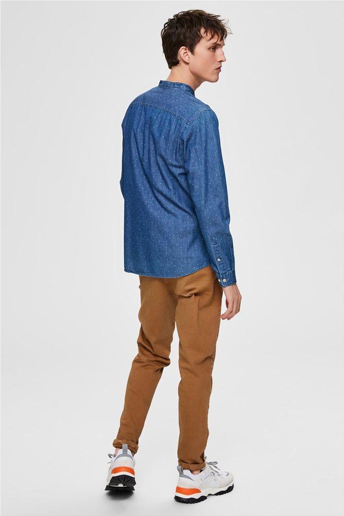 Selected ανδρικό πουκάμισο με μάο γιακά και print Regular Fit 2