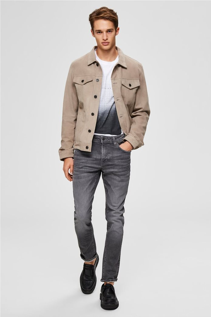 "Selected ανδρικό τζην παντελόνι με ξεβαμμένη όψη Slim fit ""6213"" 0"