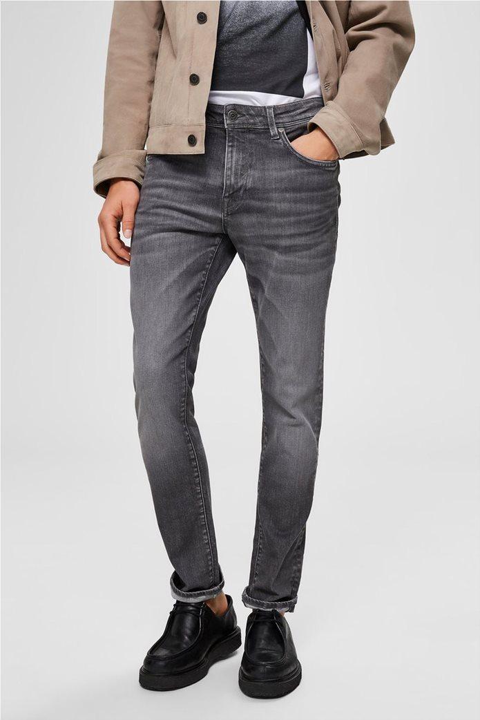 "Selected ανδρικό τζην παντελόνι με ξεβαμμένη όψη Slim fit ""6213"" 1"