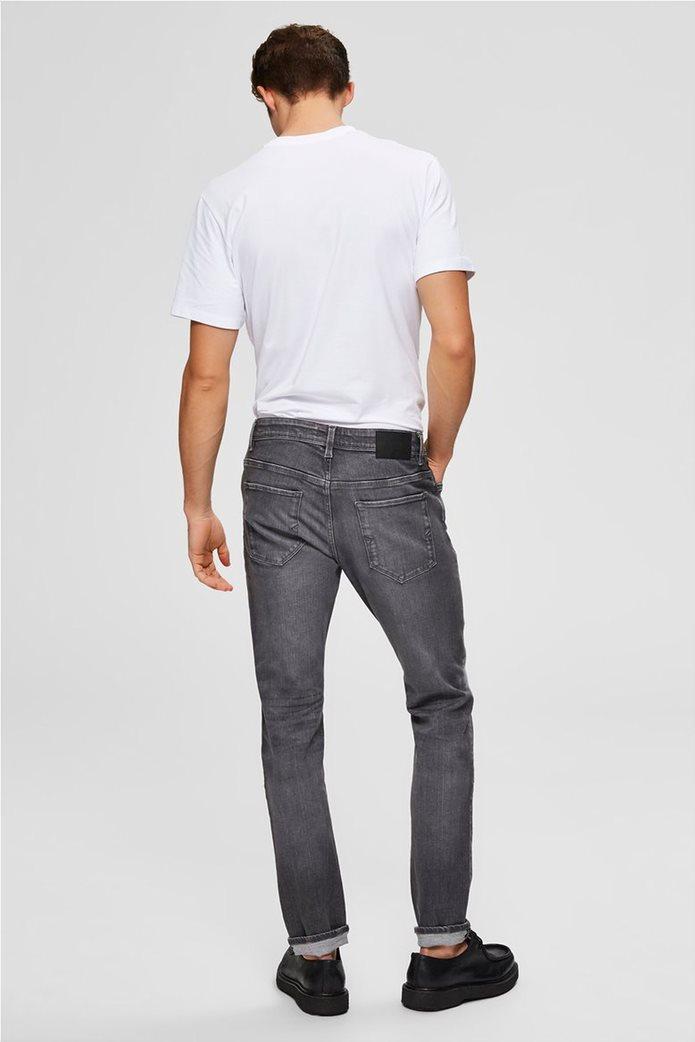"Selected ανδρικό τζην παντελόνι με ξεβαμμένη όψη Slim fit ""6213"" 2"