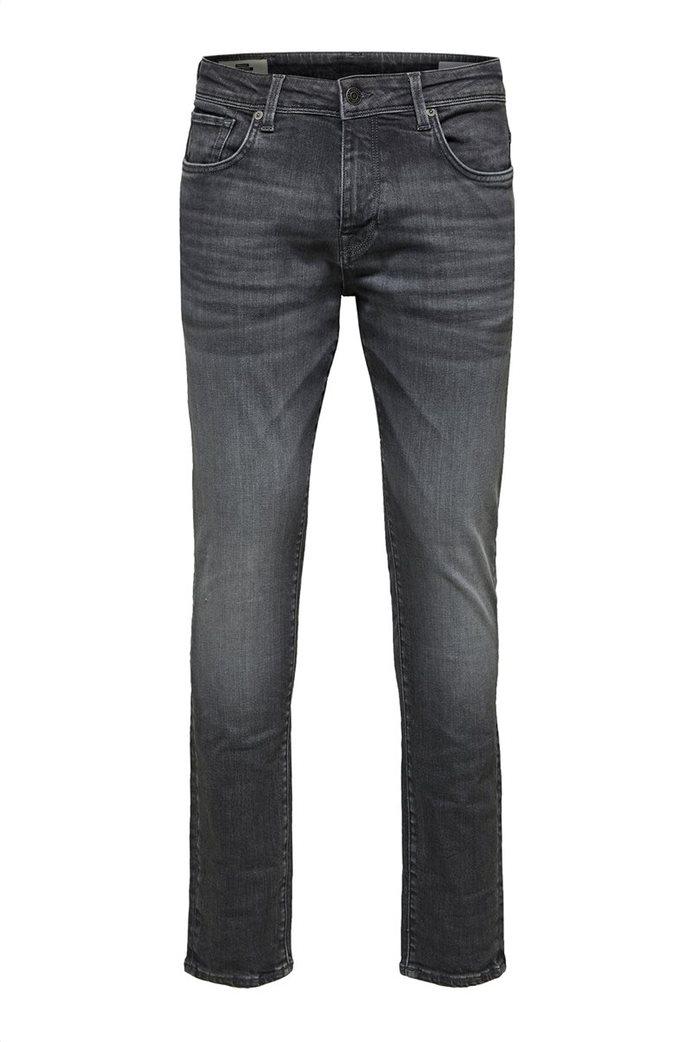 "Selected ανδρικό τζην παντελόνι με ξεβαμμένη όψη Slim fit ""6213"" 3"