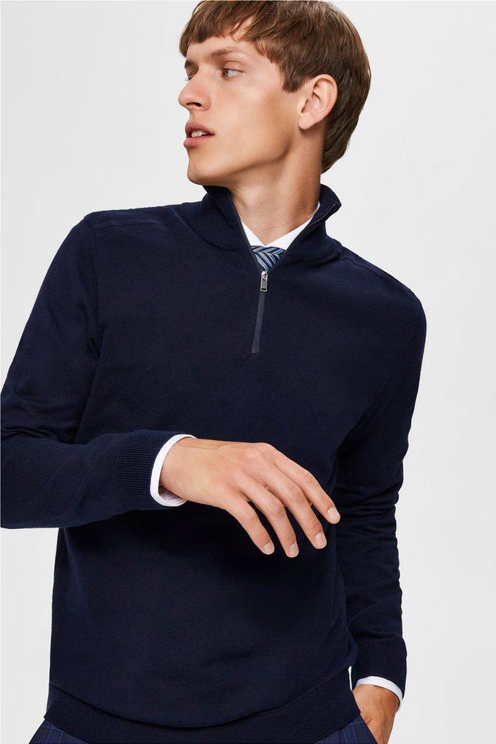 Selected ανδρική μπλούζα πλεκτή μονόχρωμη 1