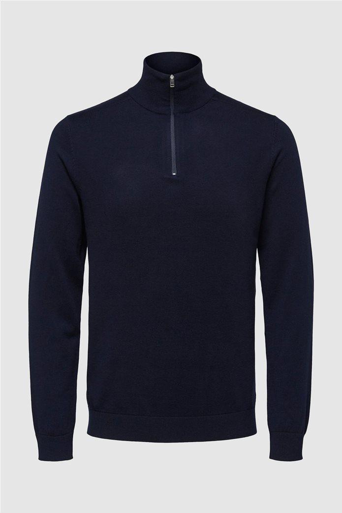 Selected ανδρική μπλούζα πλεκτή μονόχρωμη 3