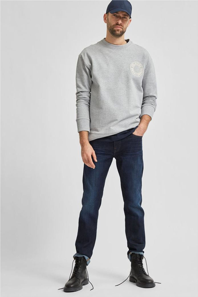 Selected ανδρικό τζην παντελόνι πεντάτσεπο Slim Fit COOLMAX® Μπλε Σκούρο 0
