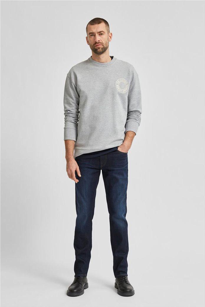 Selected ανδρικό τζην παντελόνι πεντάτσεπο Slim Fit COOLMAX® Μπλε Σκούρο 2