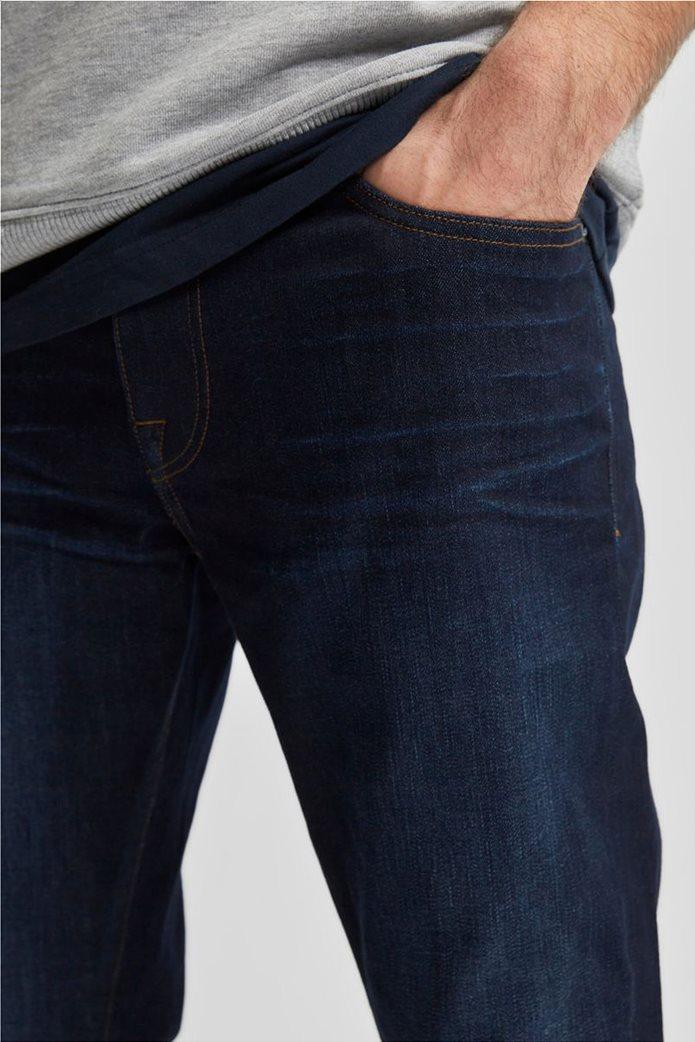 Selected ανδρικό τζην παντελόνι πεντάτσεπο Slim Fit COOLMAX® Μπλε Σκούρο 4