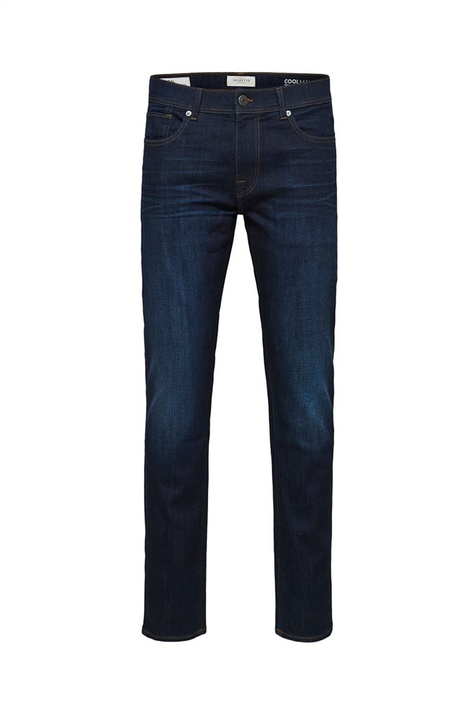 Selected ανδρικό τζην παντελόνι πεντάτσεπο Slim Fit COOLMAX® Μπλε Σκούρο 5