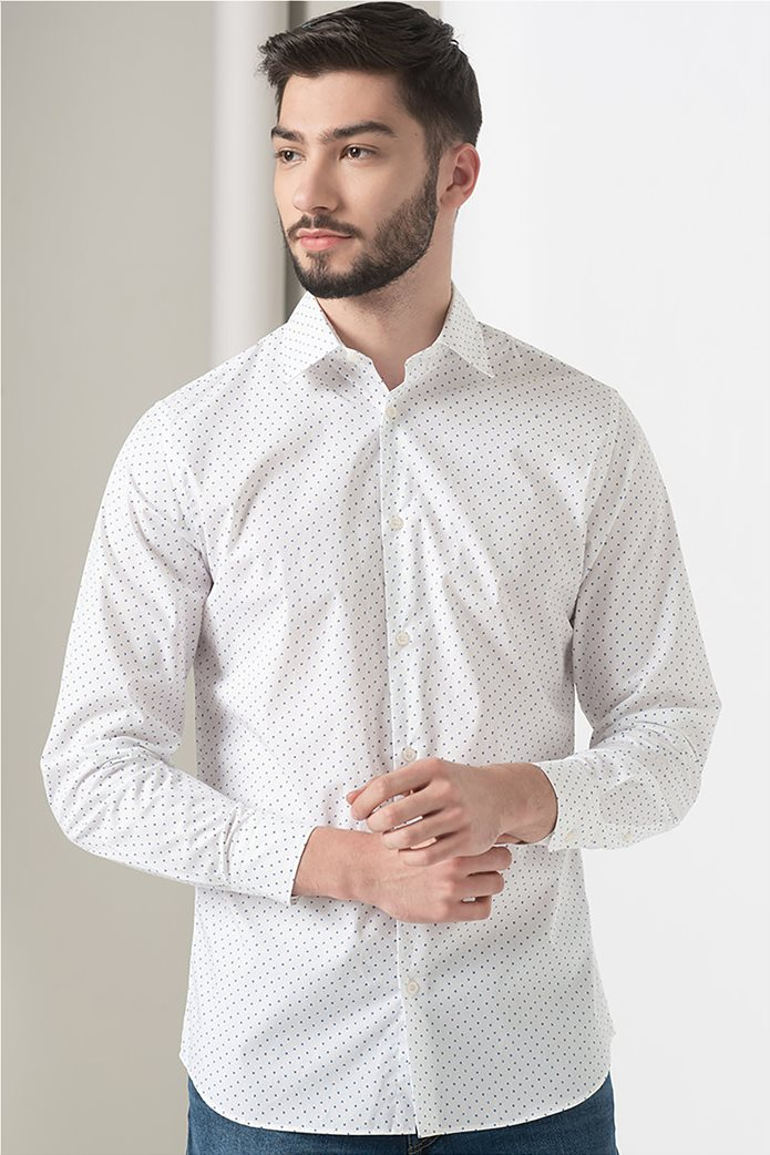 Selected ανδρικό πουκάμισο με microprint button-up Λευκό 0
