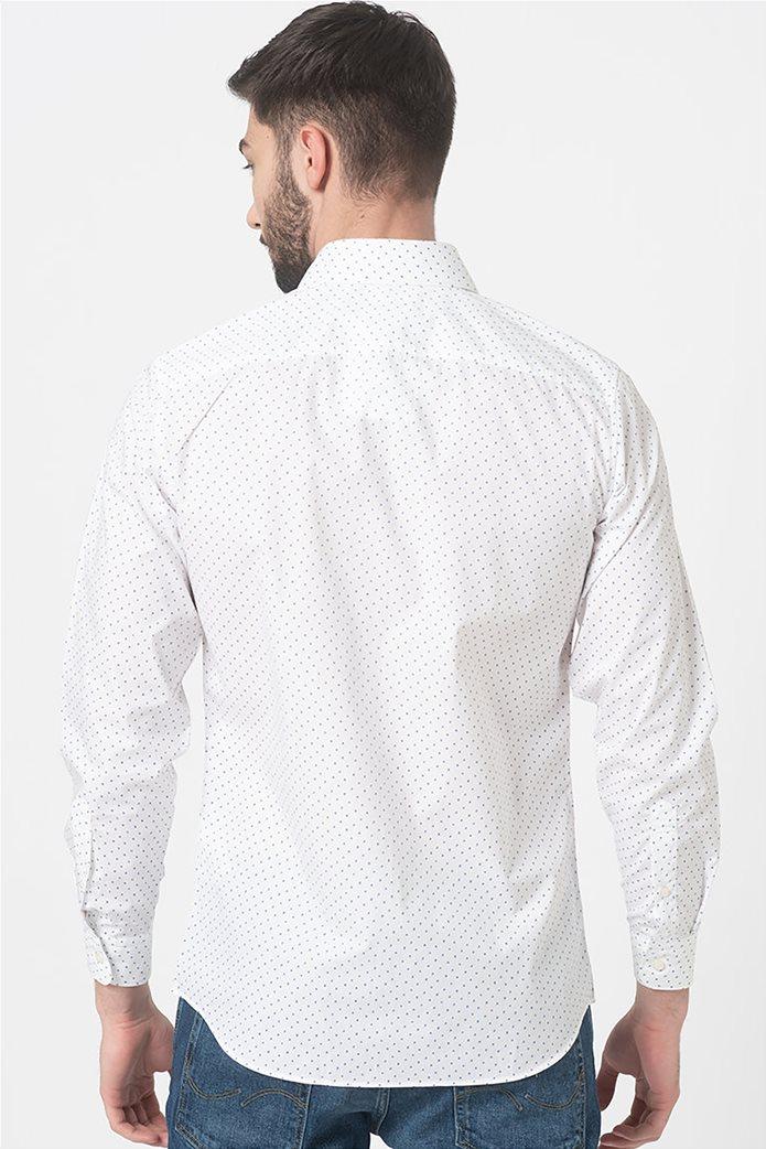 Selected ανδρικό πουκάμισο με microprint button-up Λευκό 3